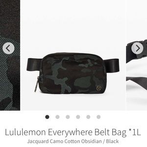 NWT Lululemon Everywhere Belt Bag
